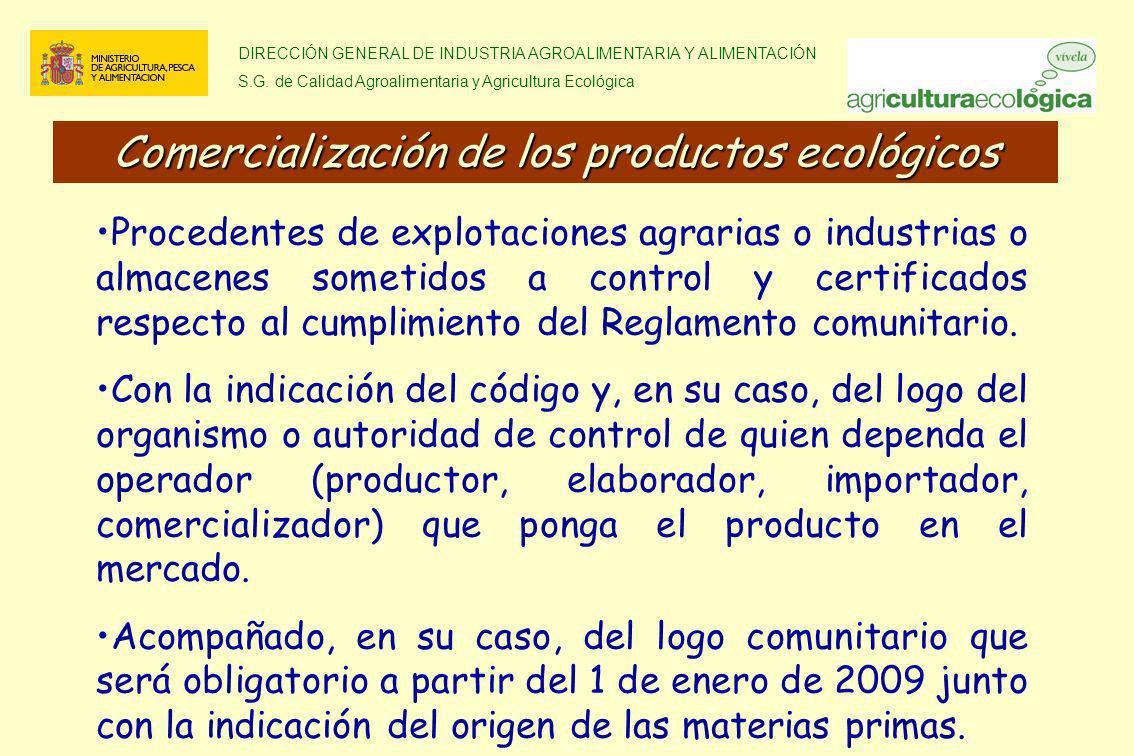 Comercialización de los productos ecológicos