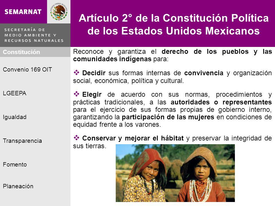 Artículo 2° de la Constitución Política de los Estados Unidos Mexicanos