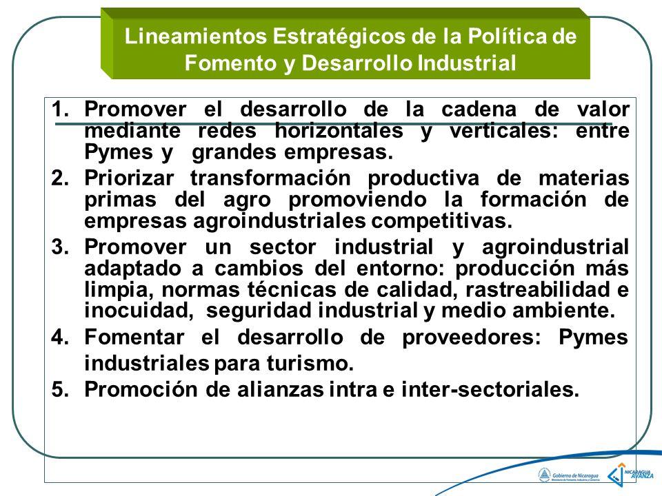 Lineamientos Estratégicos de la Política de Fomento y Desarrollo Industrial