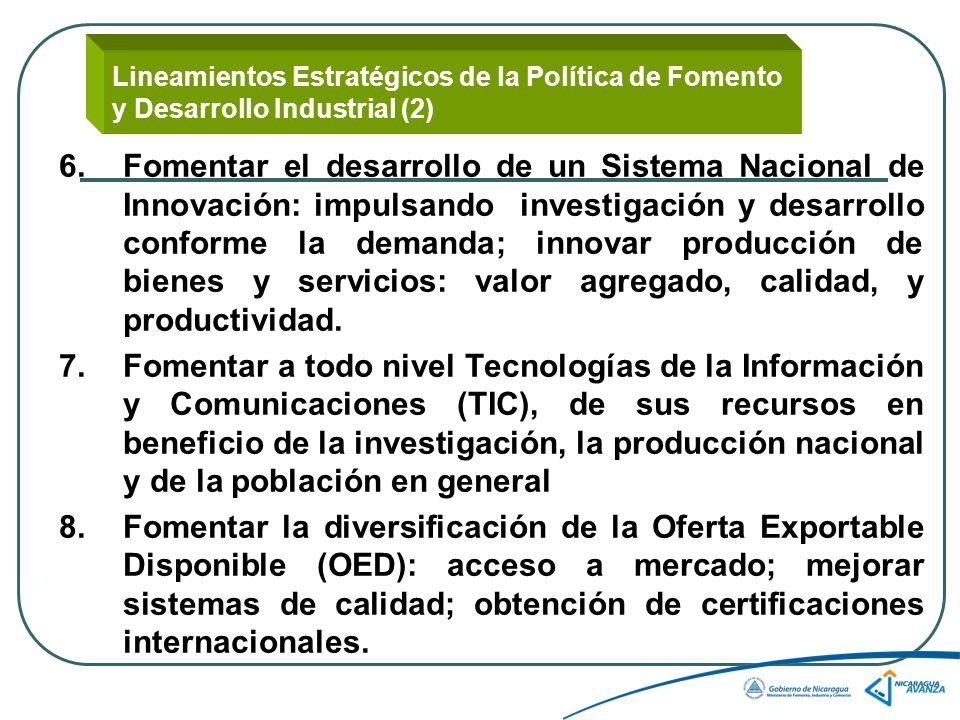 Lineamientos Estratégicos de la Política de Fomento y Desarrollo Industrial (2)