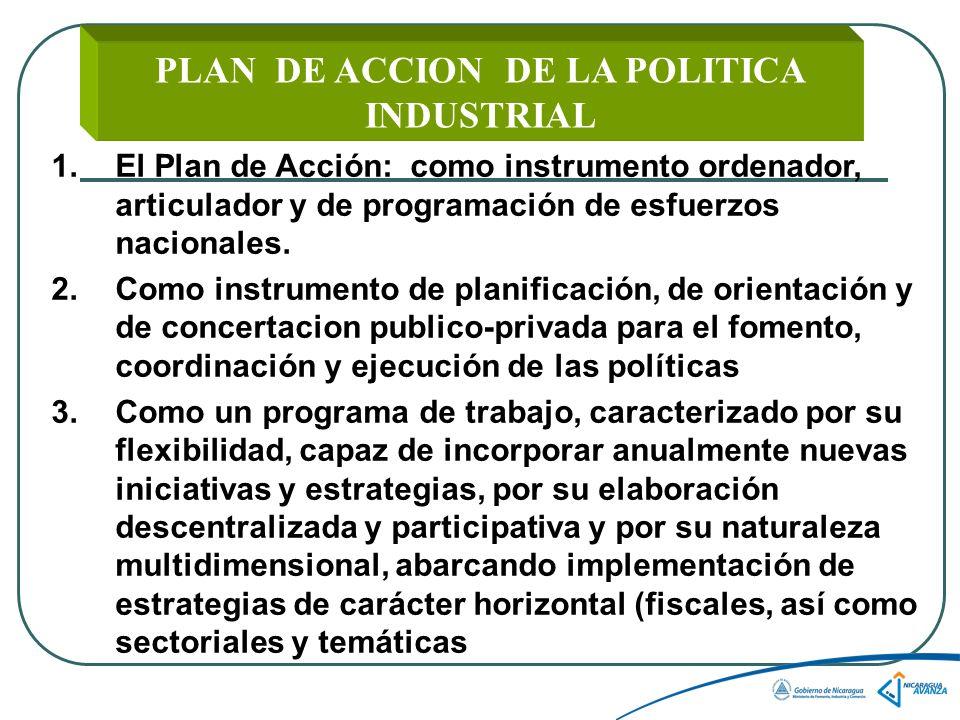 PLAN DE ACCION DE LA POLITICA INDUSTRIAL