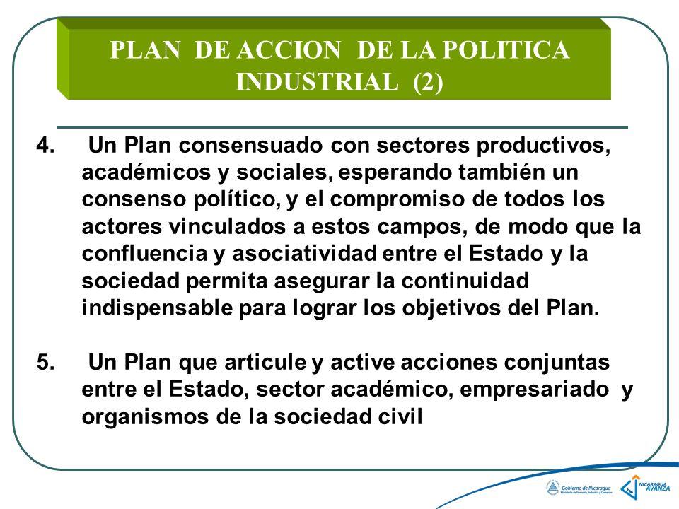 PLAN DE ACCION DE LA POLITICA INDUSTRIAL (2)