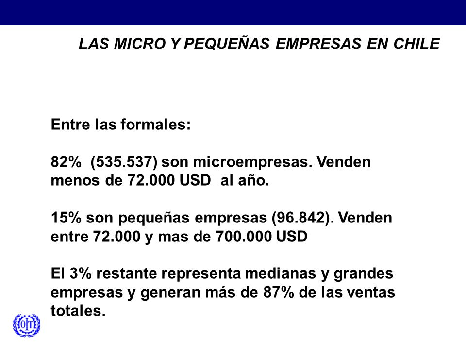 LAS MICRO Y PEQUEÑAS EMPRESAS EN CHILE