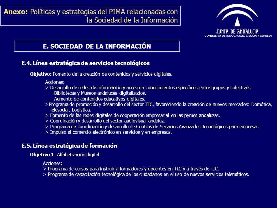 E. SOCIEDAD DE LA INFORMACIÓN