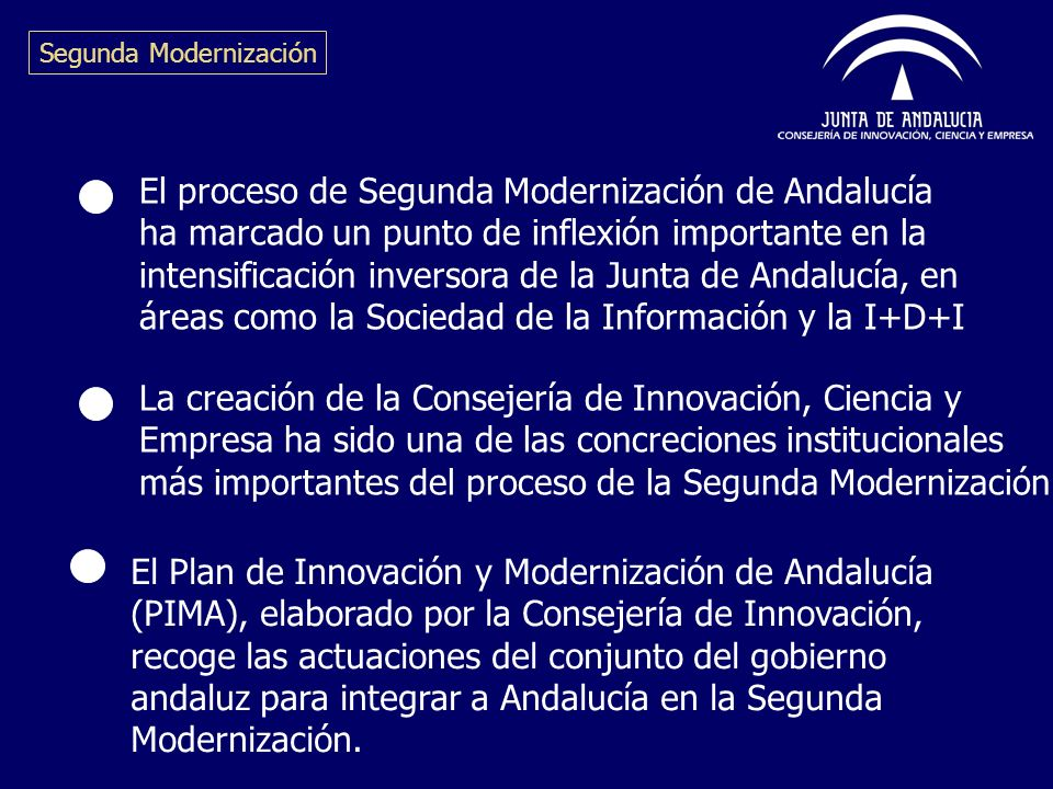 El proceso de Segunda Modernización de Andalucía