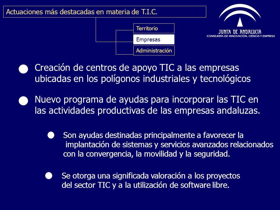 Creación de centros de apoyo TIC a las empresas