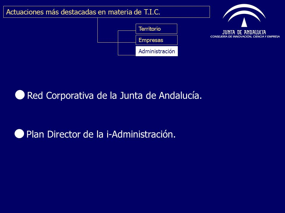 Red Corporativa de la Junta de Andalucía.