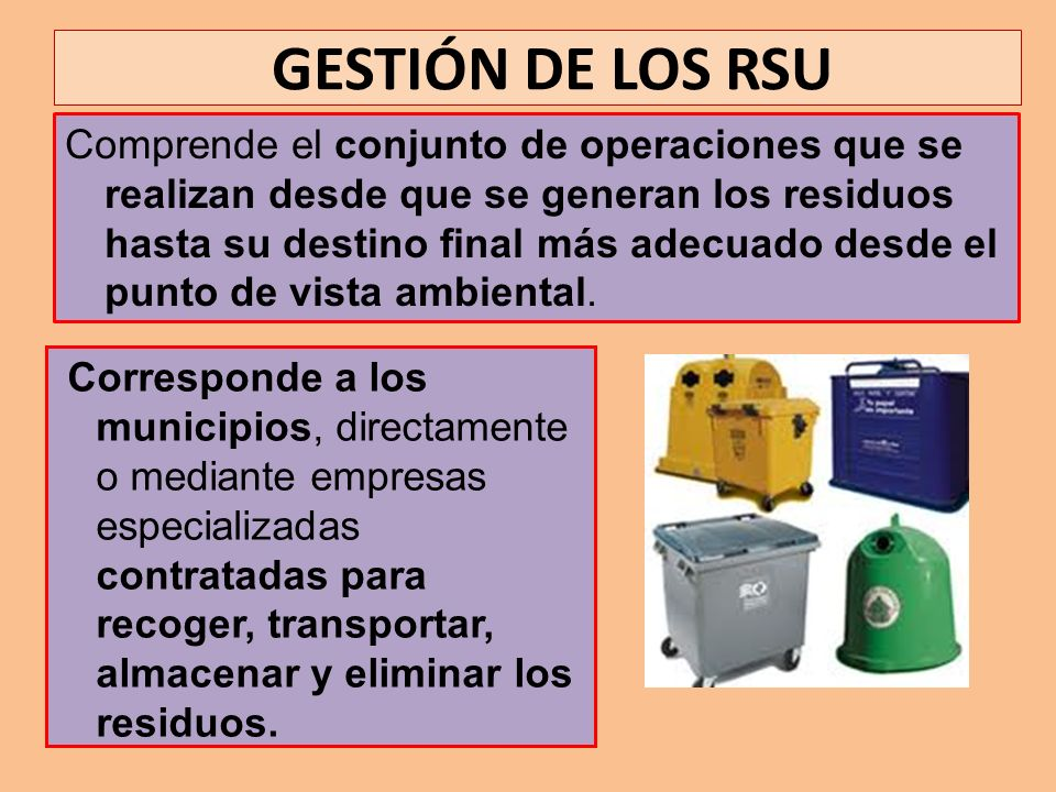 GESTIÓN DE LOS RSU