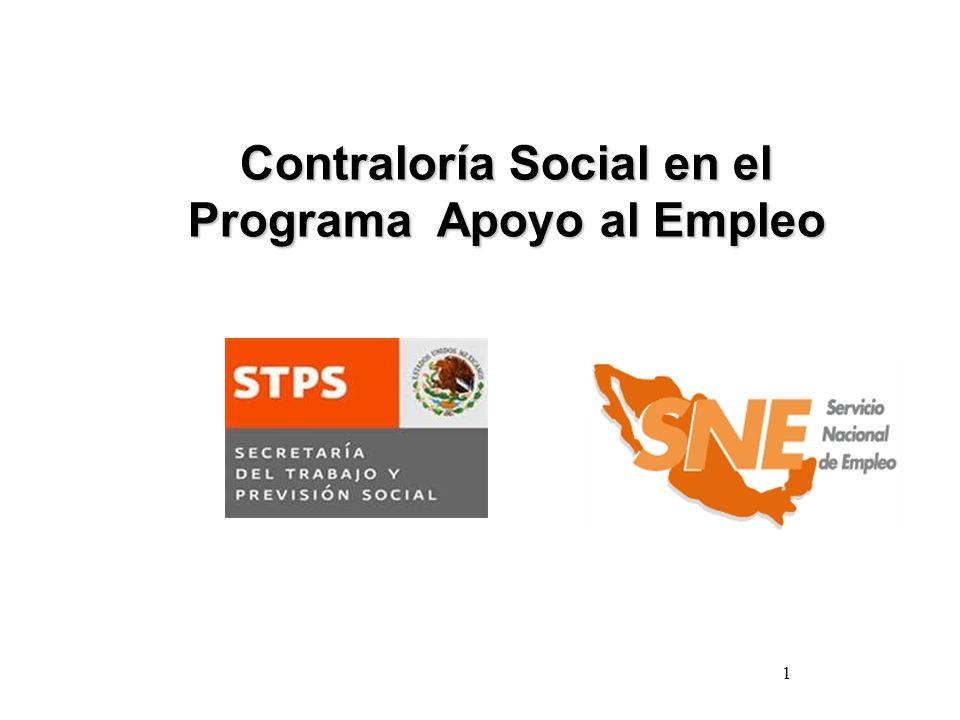 Contraloría Social en el Programa Apoyo al Empleo