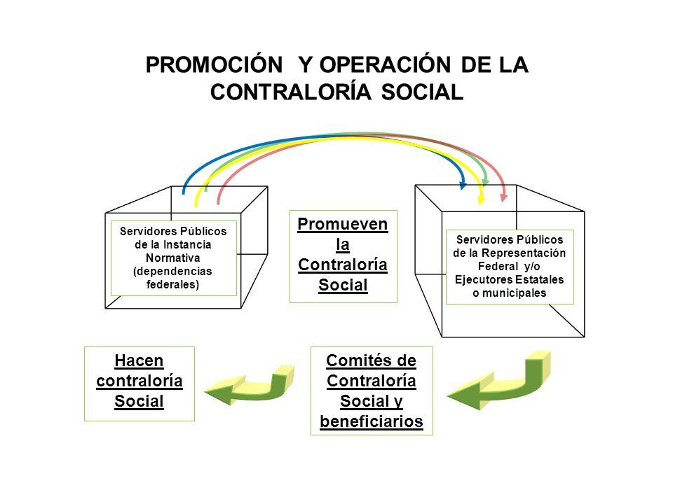 PROMOCIÓN Y OPERACIÓN DE LA CONTRALORÍA SOCIAL