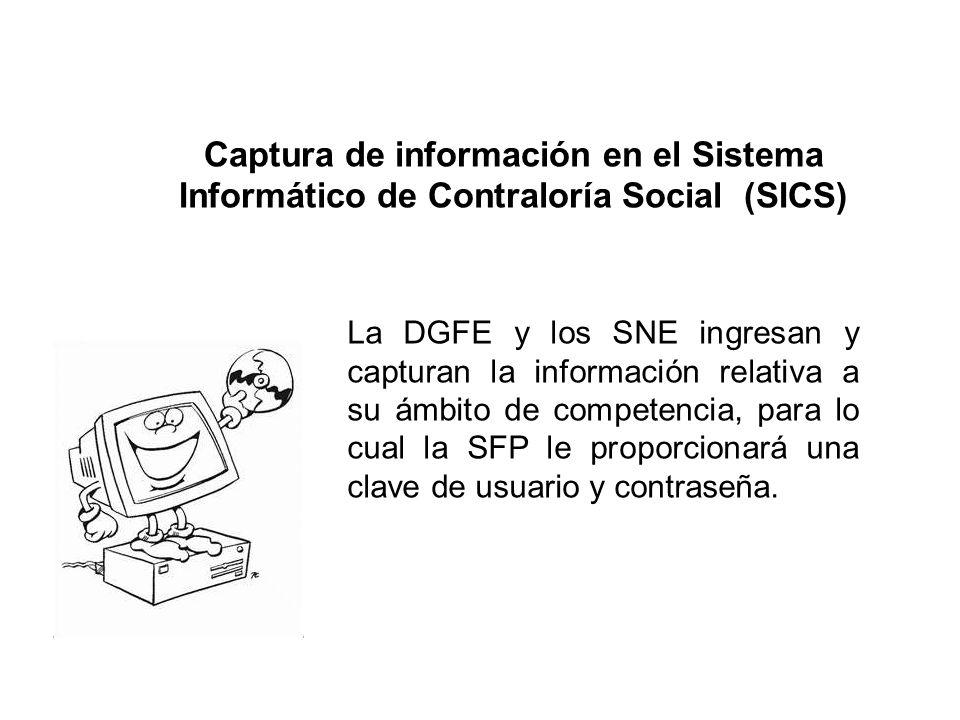 Captura de información en el Sistema Informático de Contraloría Social (SICS)