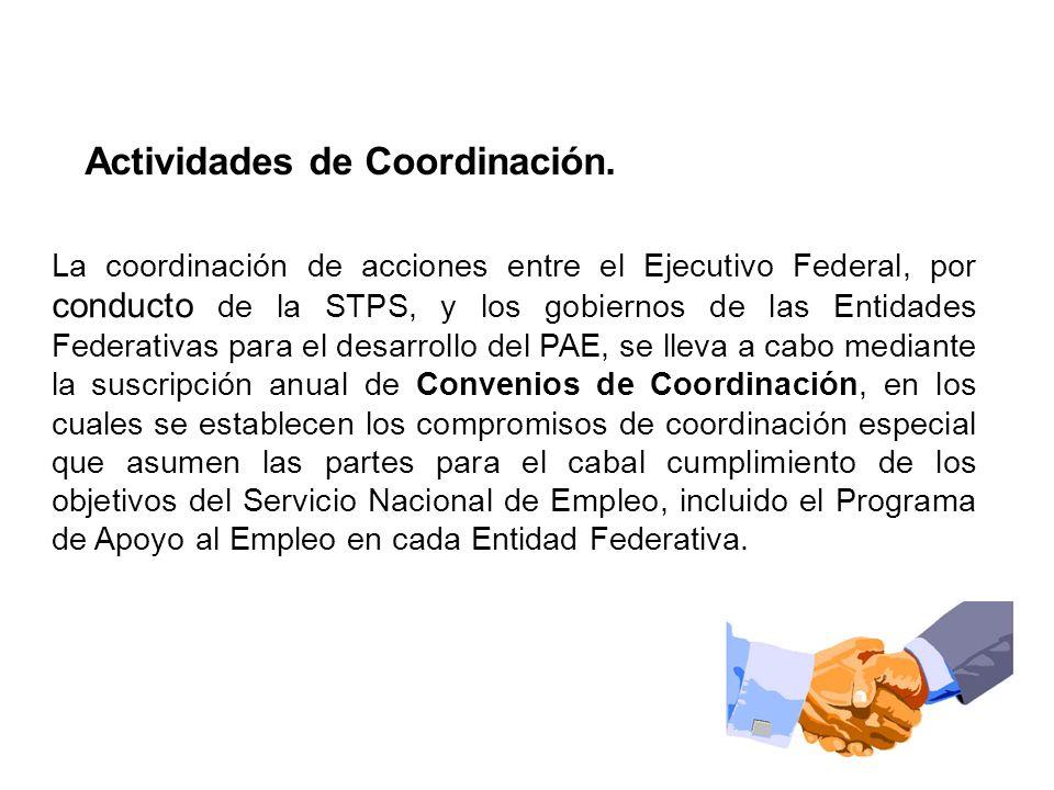 Actividades de Coordinación.
