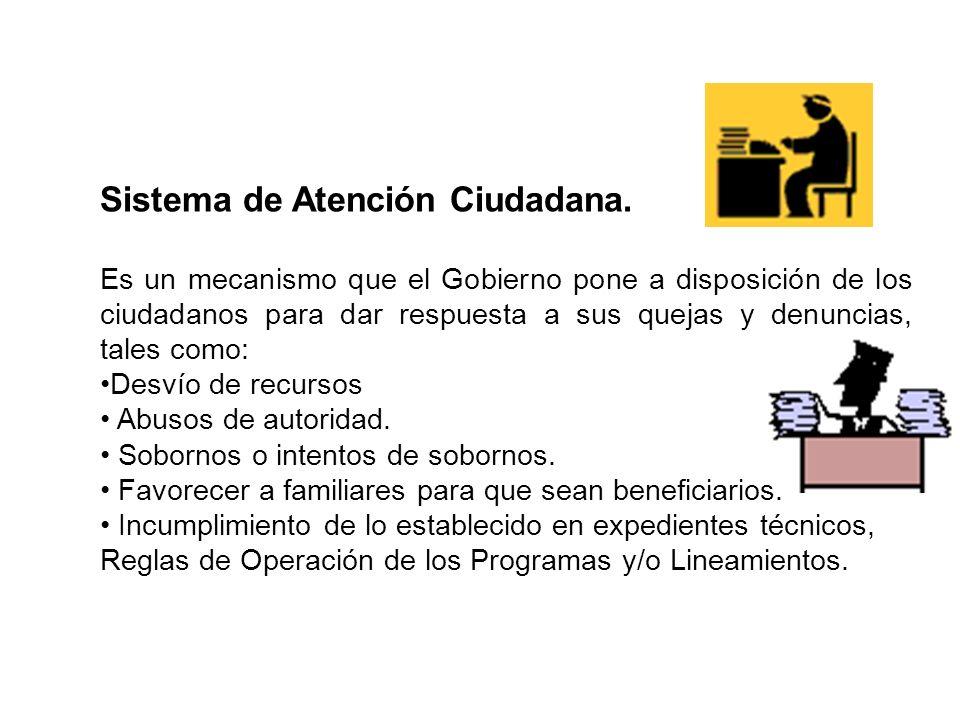 Sistema de Atención Ciudadana.