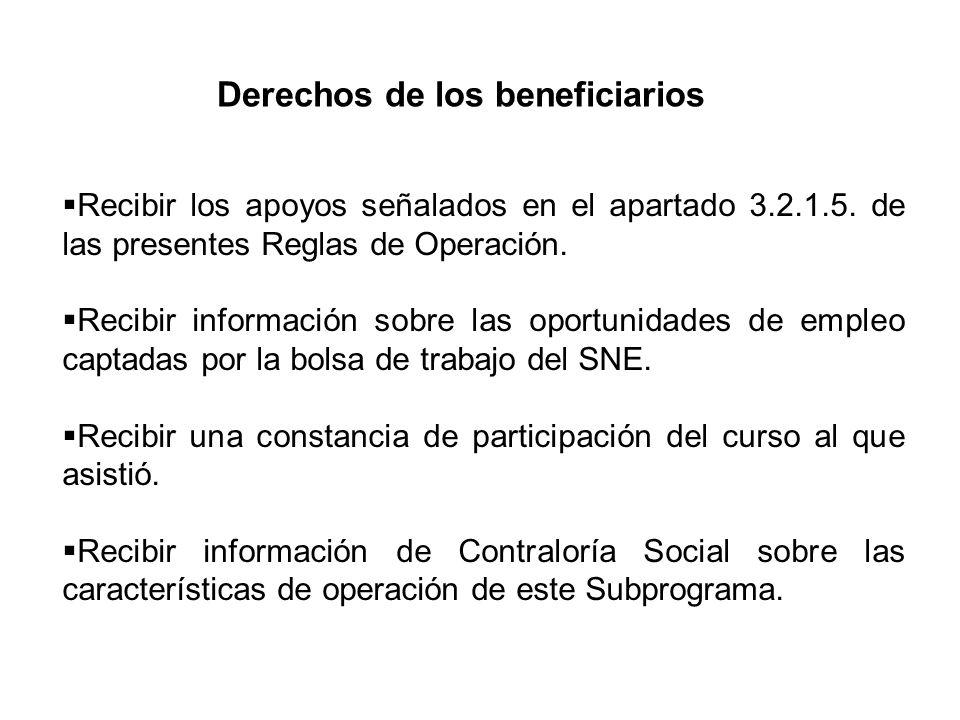 Derechos de los beneficiarios