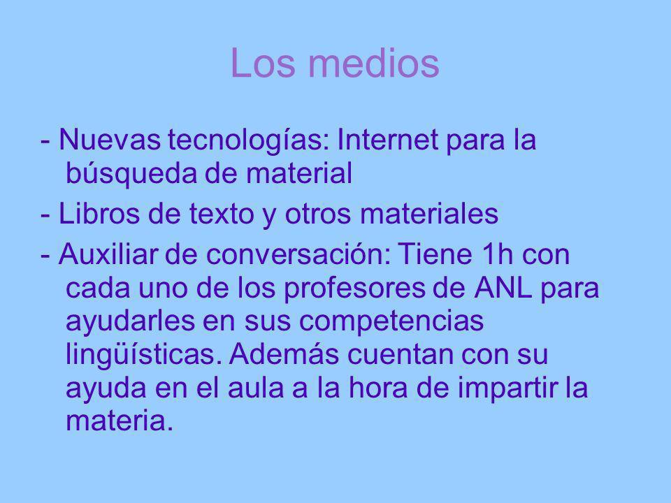 Los medios - Nuevas tecnologías: Internet para la búsqueda de material