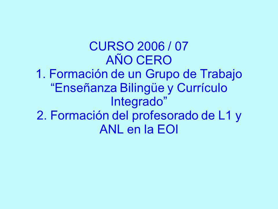 CURSO 2006 / 07 AÑO CERO 1.