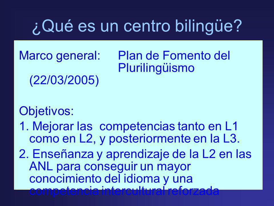 ¿Qué es un centro bilingüe