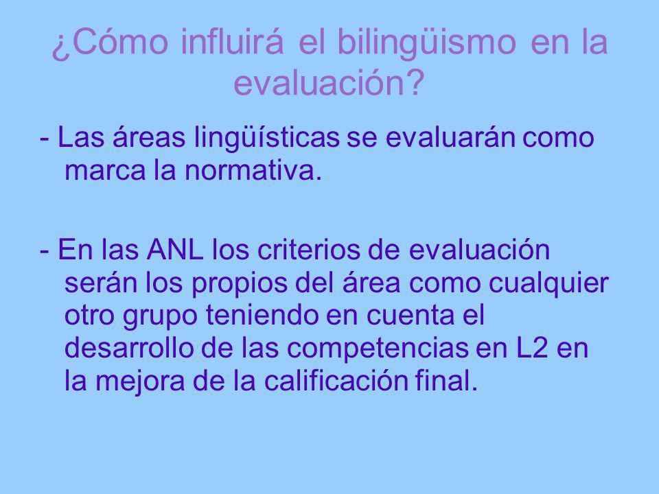 ¿Cómo influirá el bilingüismo en la evaluación