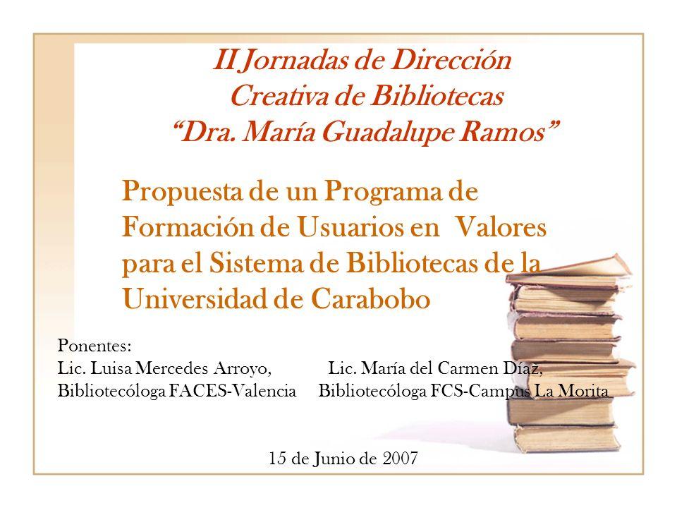 II Jornadas de Dirección Creativa de Bibliotecas Dra