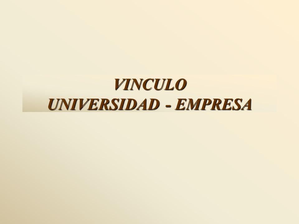 VINCULO UNIVERSIDAD - EMPRESA