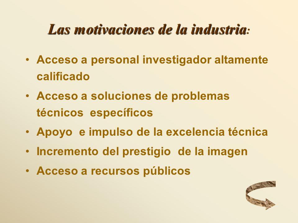 Las motivaciones de la industria: