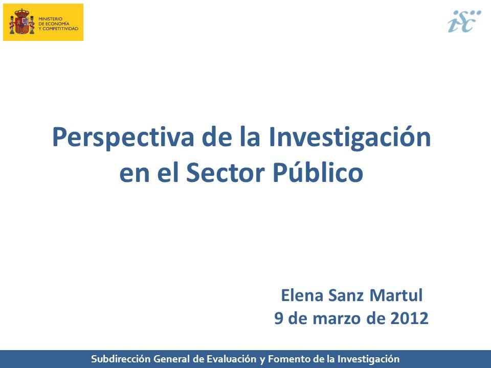 Perspectiva de la Investigación en el Sector Público