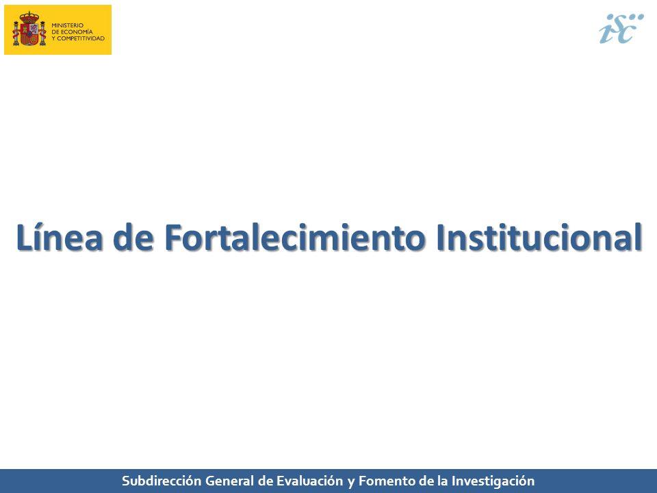 Línea de Fortalecimiento Institucional