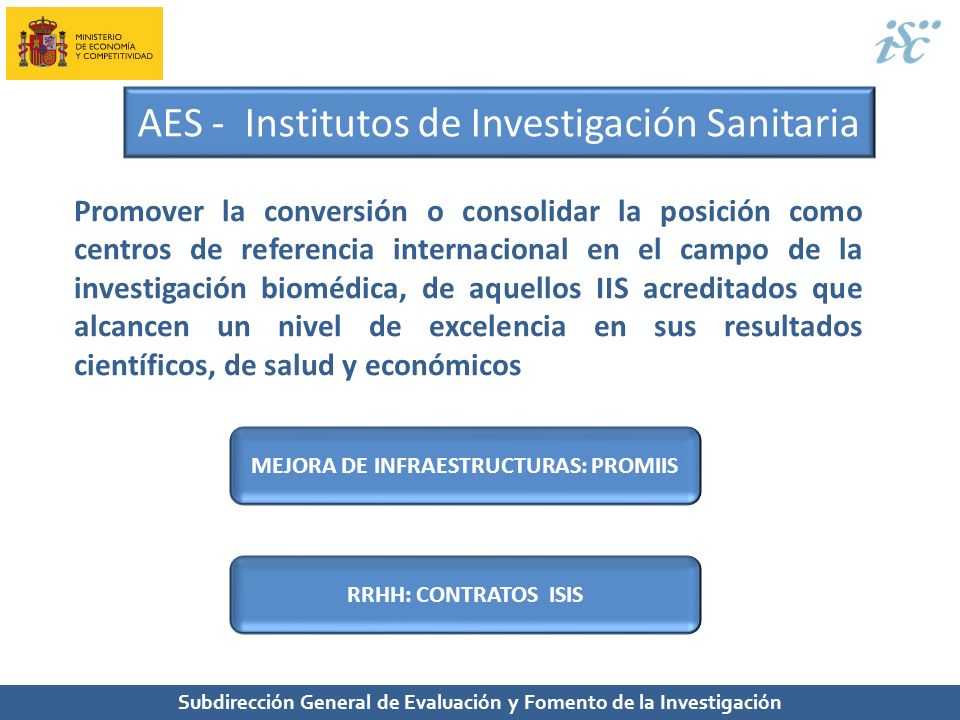 AES - Institutos de Investigación Sanitaria