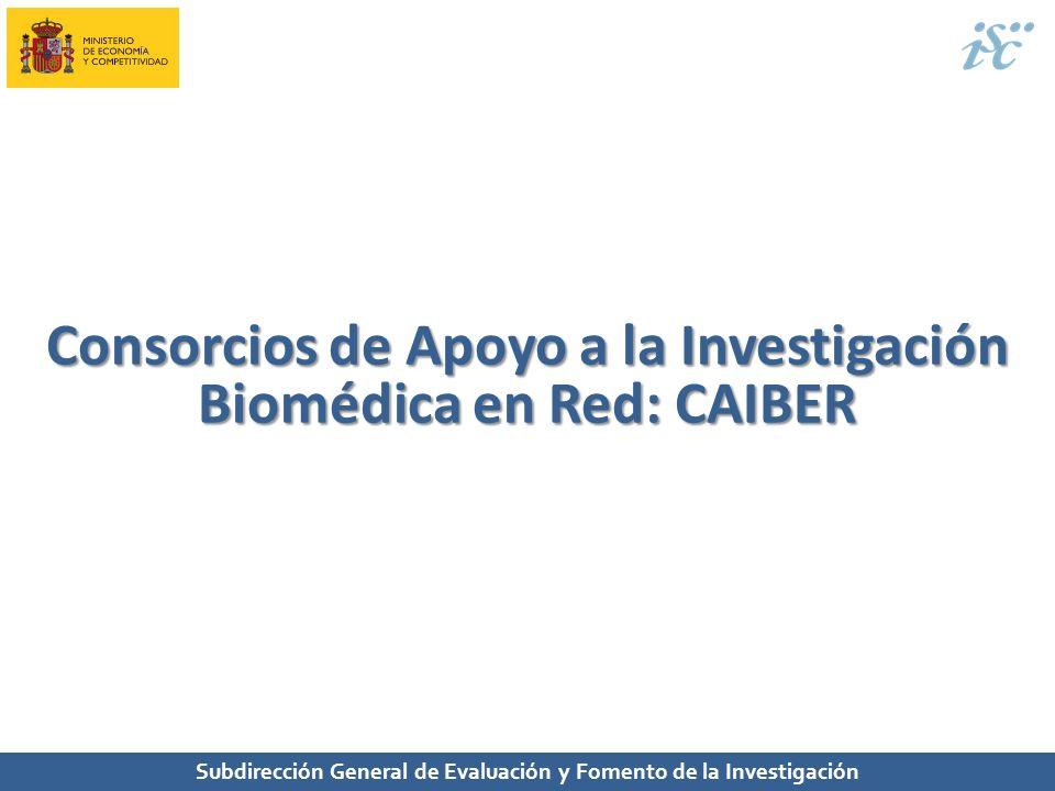 Consorcios de Apoyo a la Investigación Biomédica en Red: CAIBER