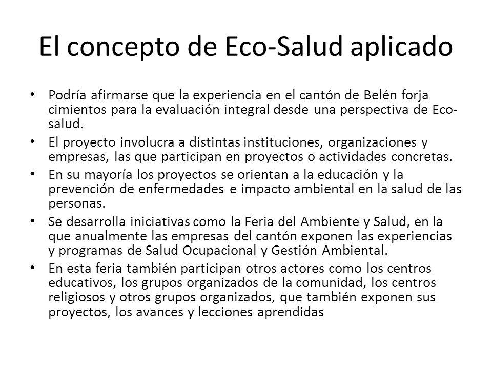 El concepto de Eco-Salud aplicado