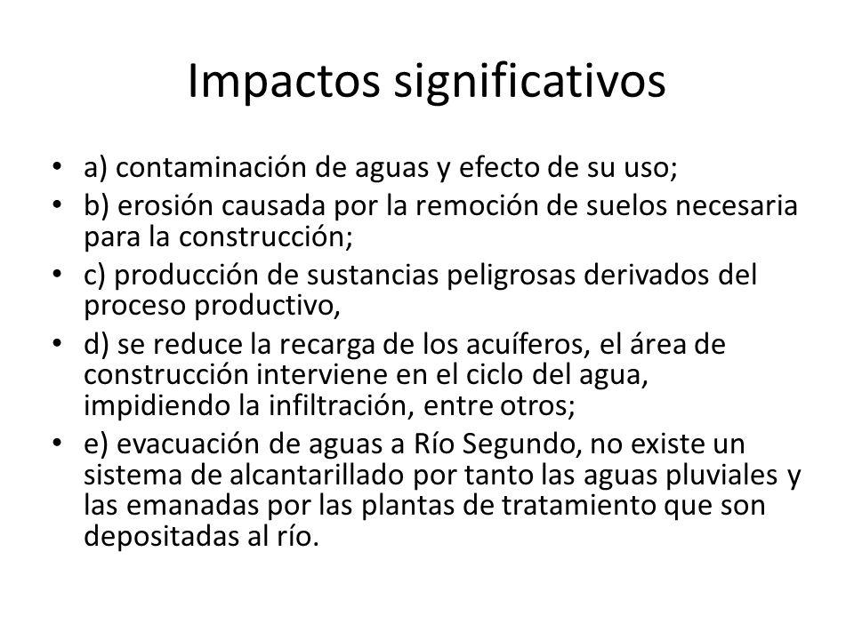 Impactos significativos