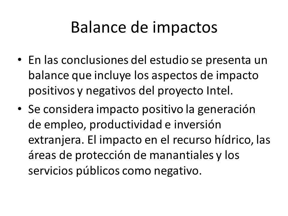 Balance de impactos