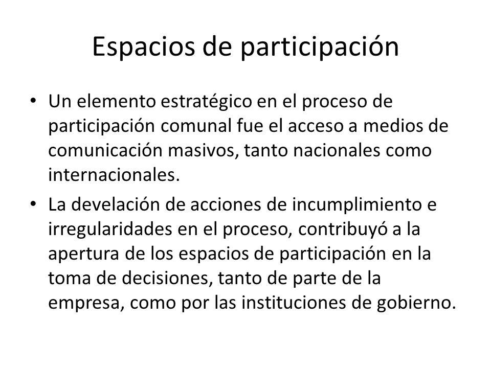 Espacios de participación
