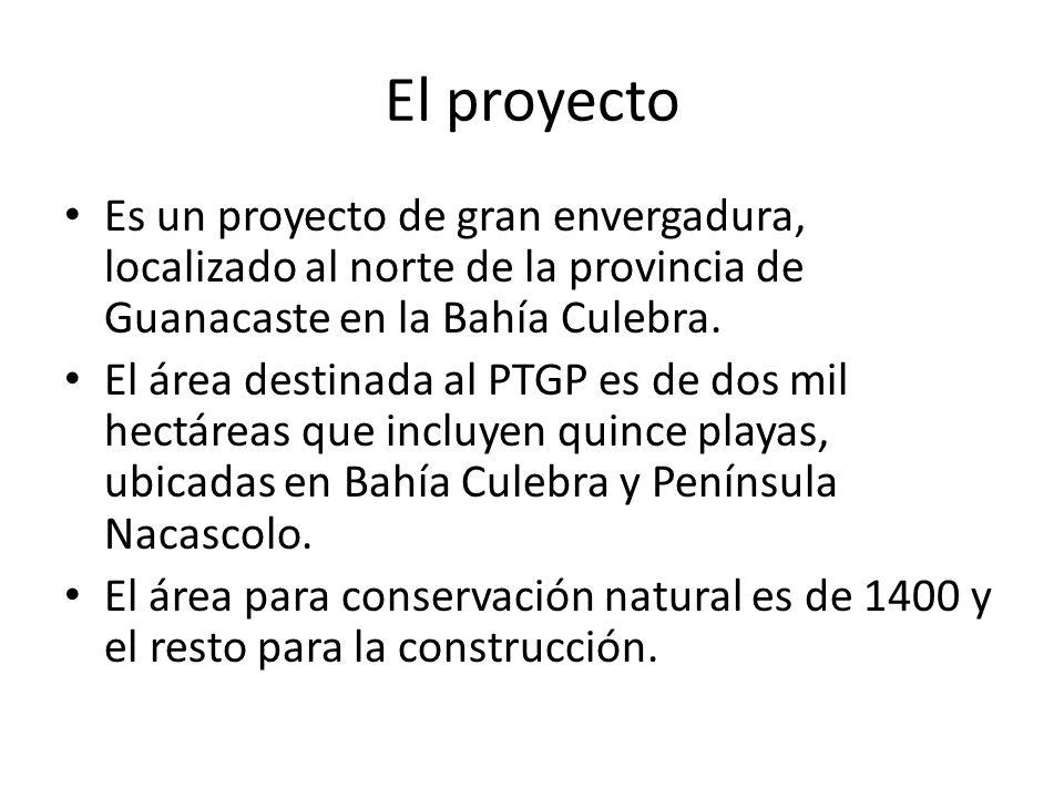 El proyecto Es un proyecto de gran envergadura, localizado al norte de la provincia de Guanacaste en la Bahía Culebra.