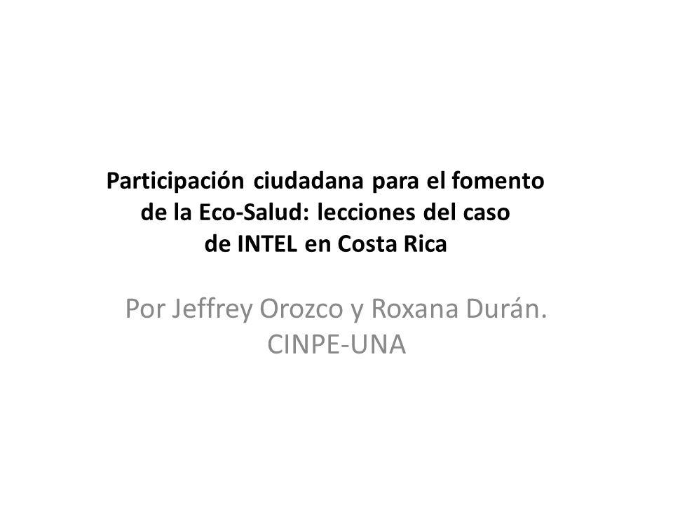 Por Jeffrey Orozco y Roxana Durán. CINPE-UNA