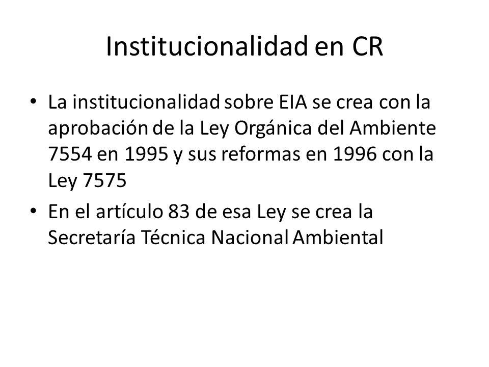 Institucionalidad en CR
