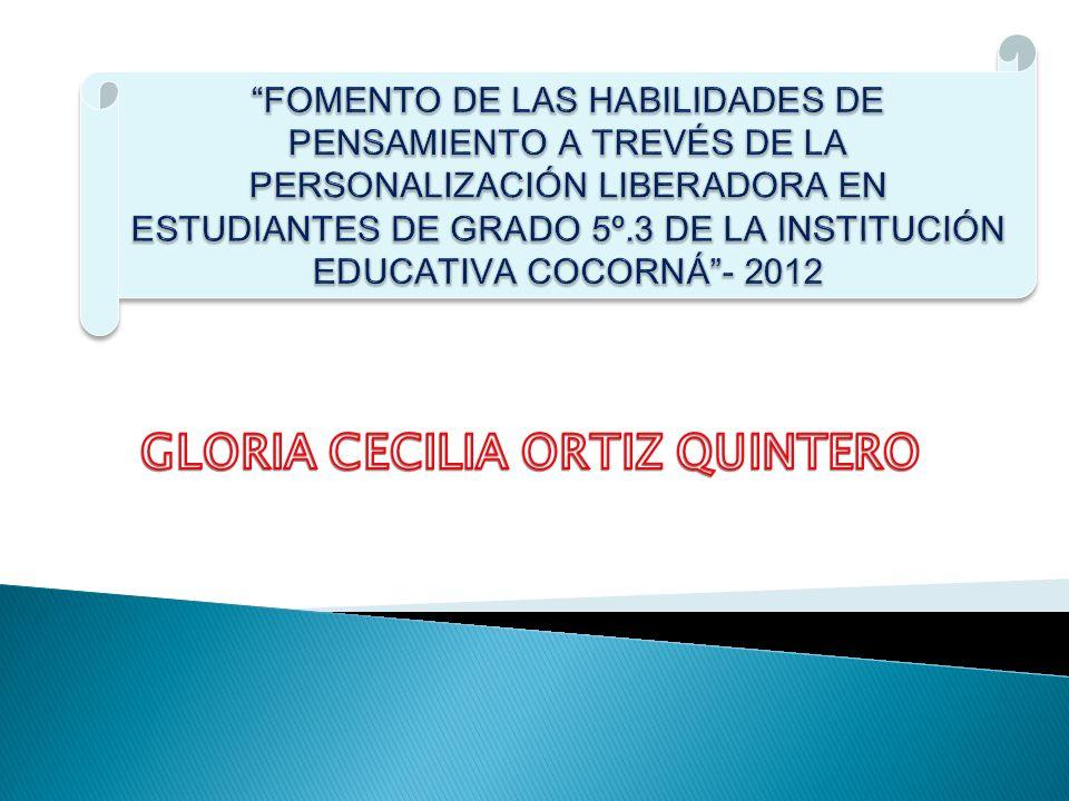 GLORIA CECILIA ORTIZ QUINTERO