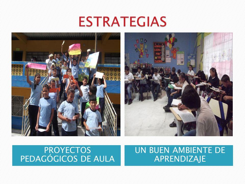 ESTRATEGIAS PROYECTOS PEDAGÓGICOS DE AULA