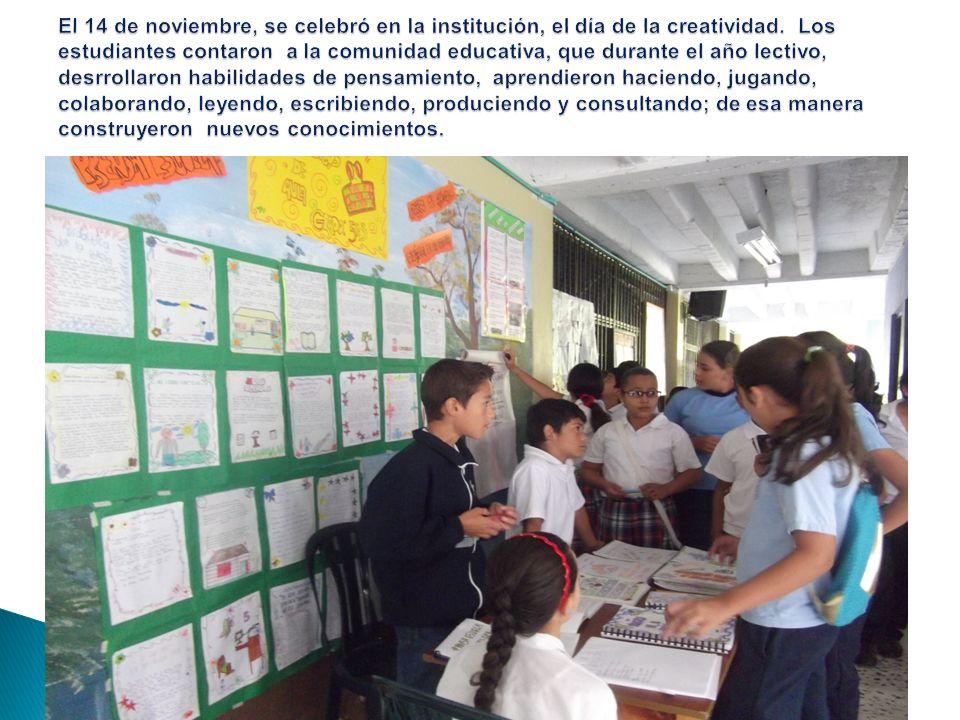 El 14 de noviembre, se celebró en la institución, el día de la creatividad.