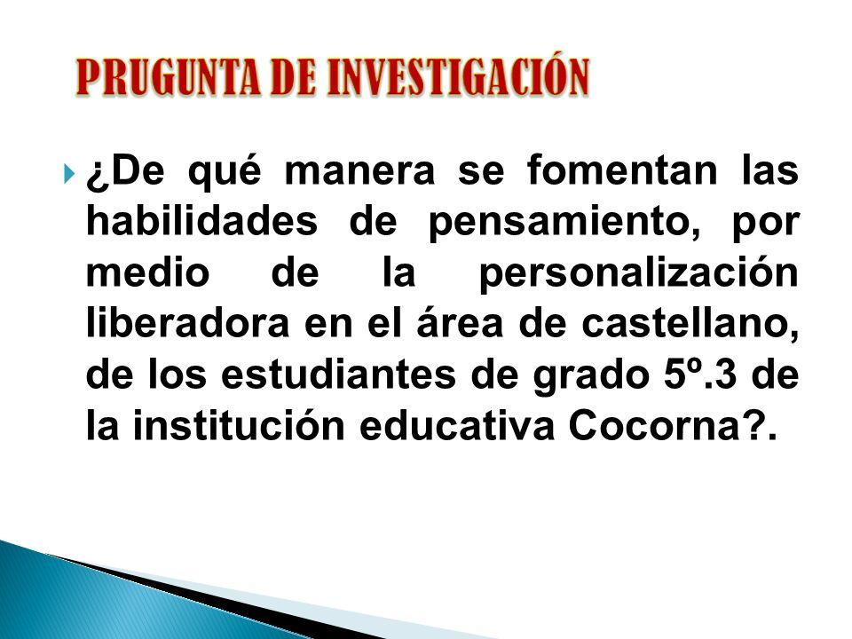 PRUGUNTA DE INVESTIGACIÓN