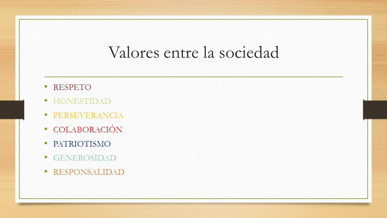 Valores entre la sociedad