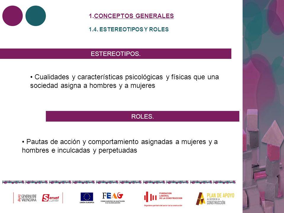 CONCEPTOS GENERALES 1.4. ESTEREOTIPOS Y ROLES. ESTEREOTIPOS.