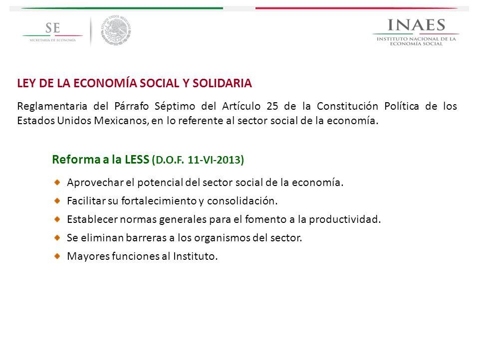 LEY DE LA ECONOMÍA SOCIAL Y SOLIDARIA