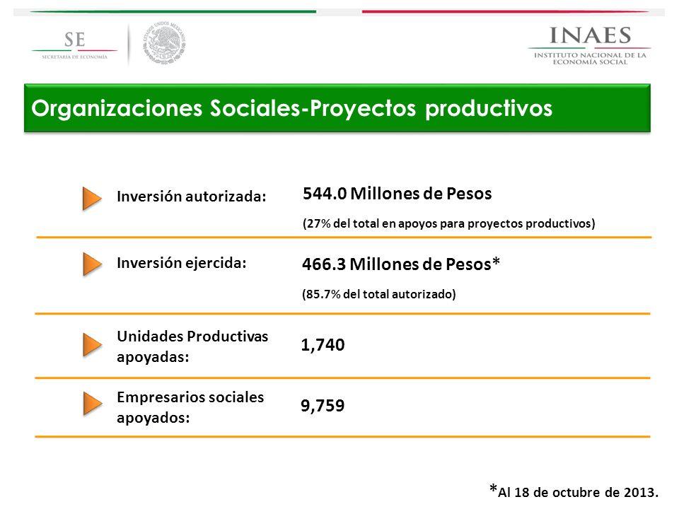 Organizaciones Sociales-Proyectos productivos