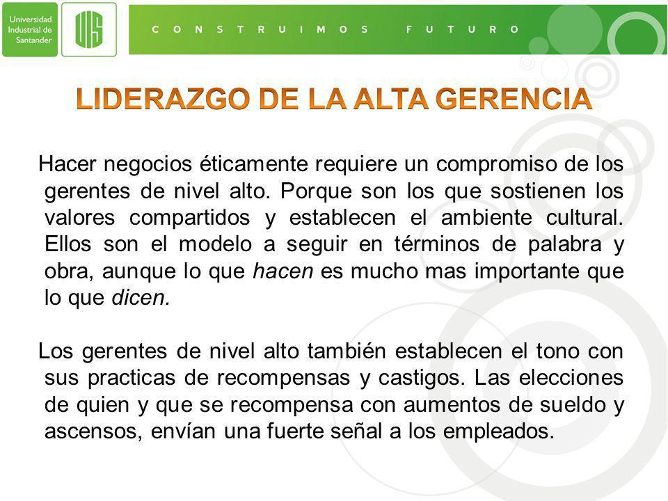 LIDERAZGO DE LA ALTA GERENCIA