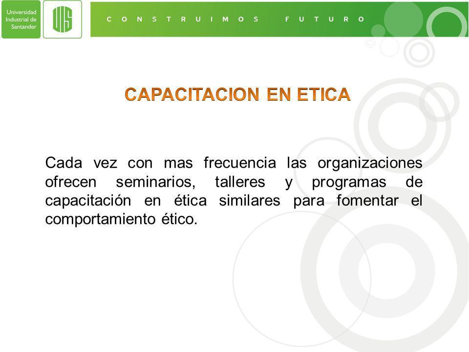 CAPACITACION EN ETICA