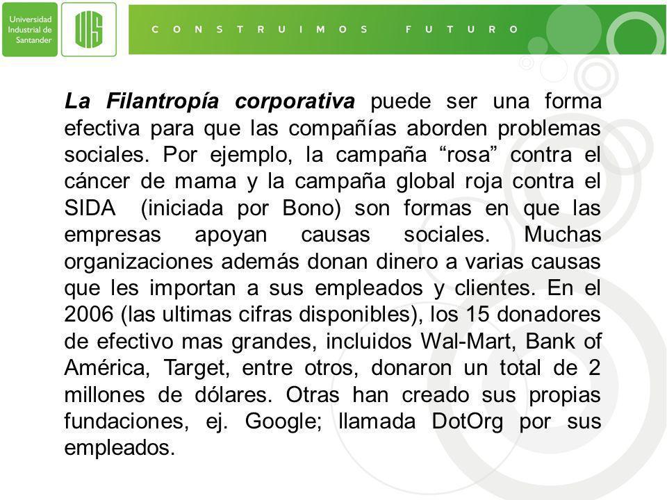 La Filantropía corporativa puede ser una forma efectiva para que las compañías aborden problemas sociales.