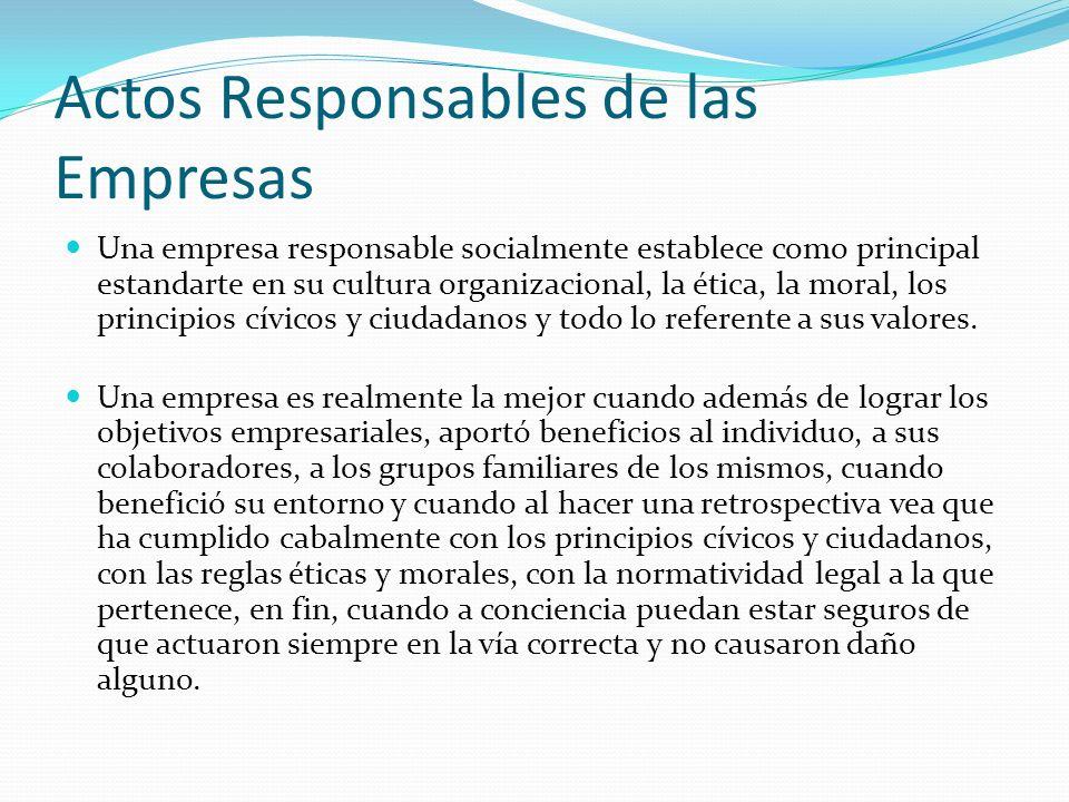 Actos Responsables de las Empresas