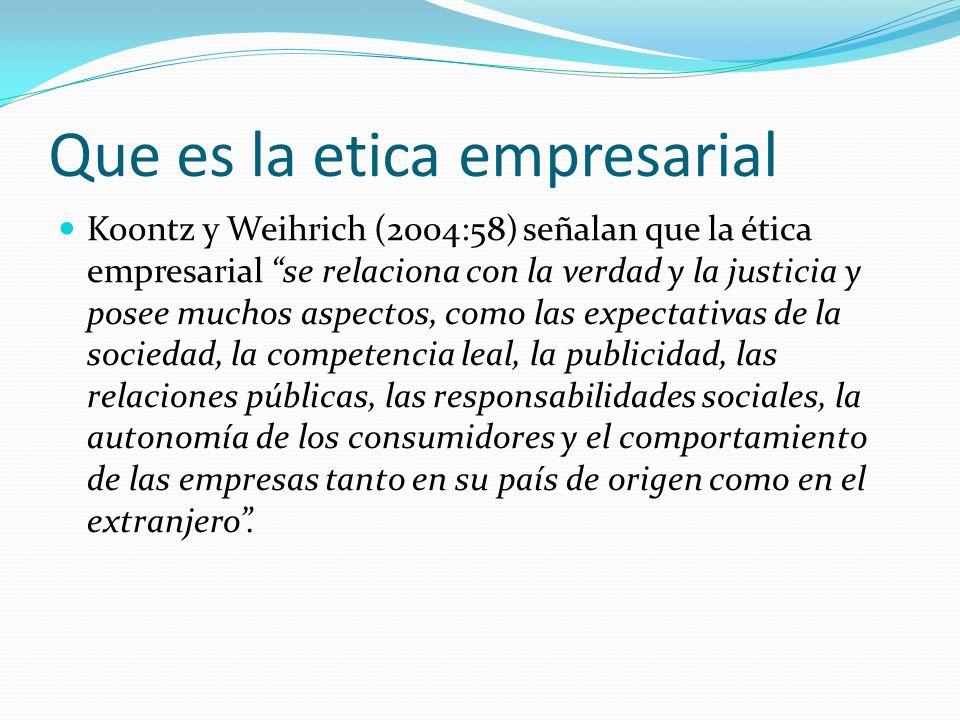 Que es la etica empresarial