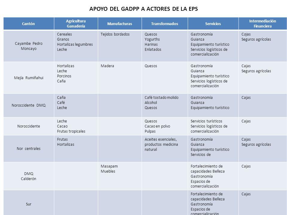 APOYO DEL GADPP A ACTORES DE LA EPS